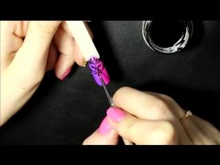 Градиент гель лаком _ Вензеля на ногтях