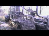 TDT- 55 tractor stuck in deep mud, Timberjack 1010D helps, extreme mud conditions