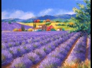Как нарисовать поле лаванды маслом