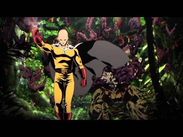 One Punch Man - Official Opening - The Hero Set Fire to the Furious Fist