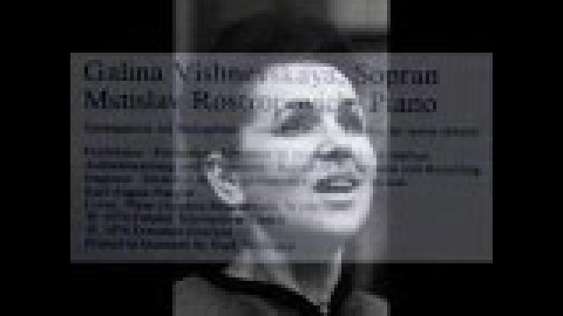 Rachmaninov / Vishnevskaya / Rostropovich, 1976: Vocalise (Вокализ), Op. 34, Nr. 14 - DG