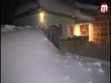 Снегопад в Усть-Баргузине