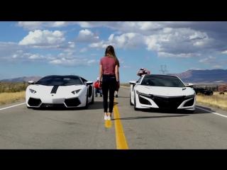 Acura NSX vs Lamborghini Aventador Pirelli Edition - 720p