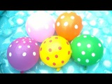 Balloon songs for kids Wet balloons finger family Learn colors nursery rhymes song