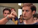 Питер Паркер против Флэша Томпсона. Школьная драка. Человек-паук 2002.