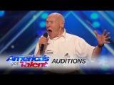 John Hetlinger 82-Year-Old Singer Shocks the Room with Hard Rock Cover - America's Got Talent 2016