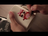 How to DIY- Love Mugs Ideas for Valentines Day with Faber-Castell Slim Permanent Markers.