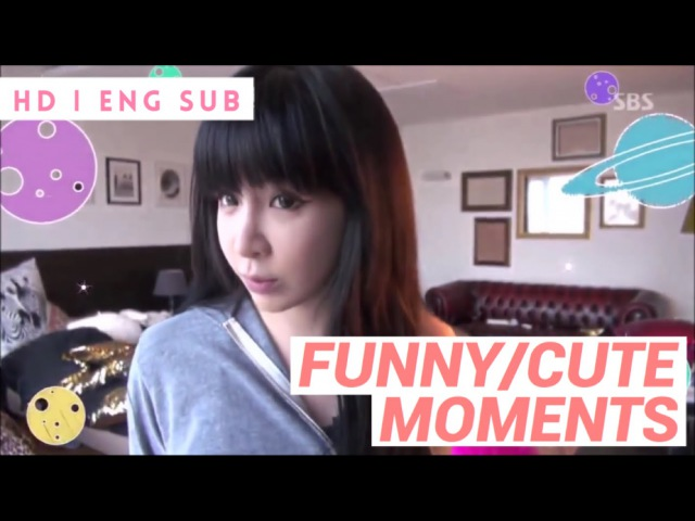 PARK BOM - FUNNY CUTE MOMENTS (ROOMMATE) HD ENG SUB
