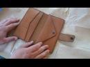 Работа с кожей. Кошелек с отделом для мелочи. Big boy. Making leather wallet