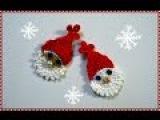 Вязание крючком. Вязание Деда Мороза. Новогоднее украшение крючком.