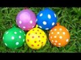5 Colors Water Wet Balloons Learn Colours Balloon Nursery Rhyme and Finger Family Songs Children