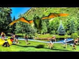 Human Zipline Slip and Slide with Pete's Dragon! DEVINSUPERTRAMP