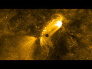 NASA опубликовало видео путешествия Меркурия по диску Солнца