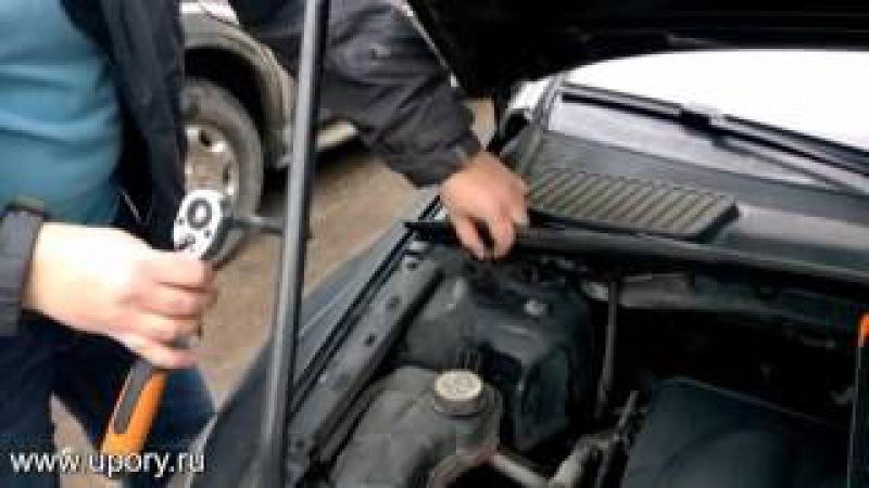 Установка амортизаторов (упоров) капота для Ford Mondeo IV от upory.ru