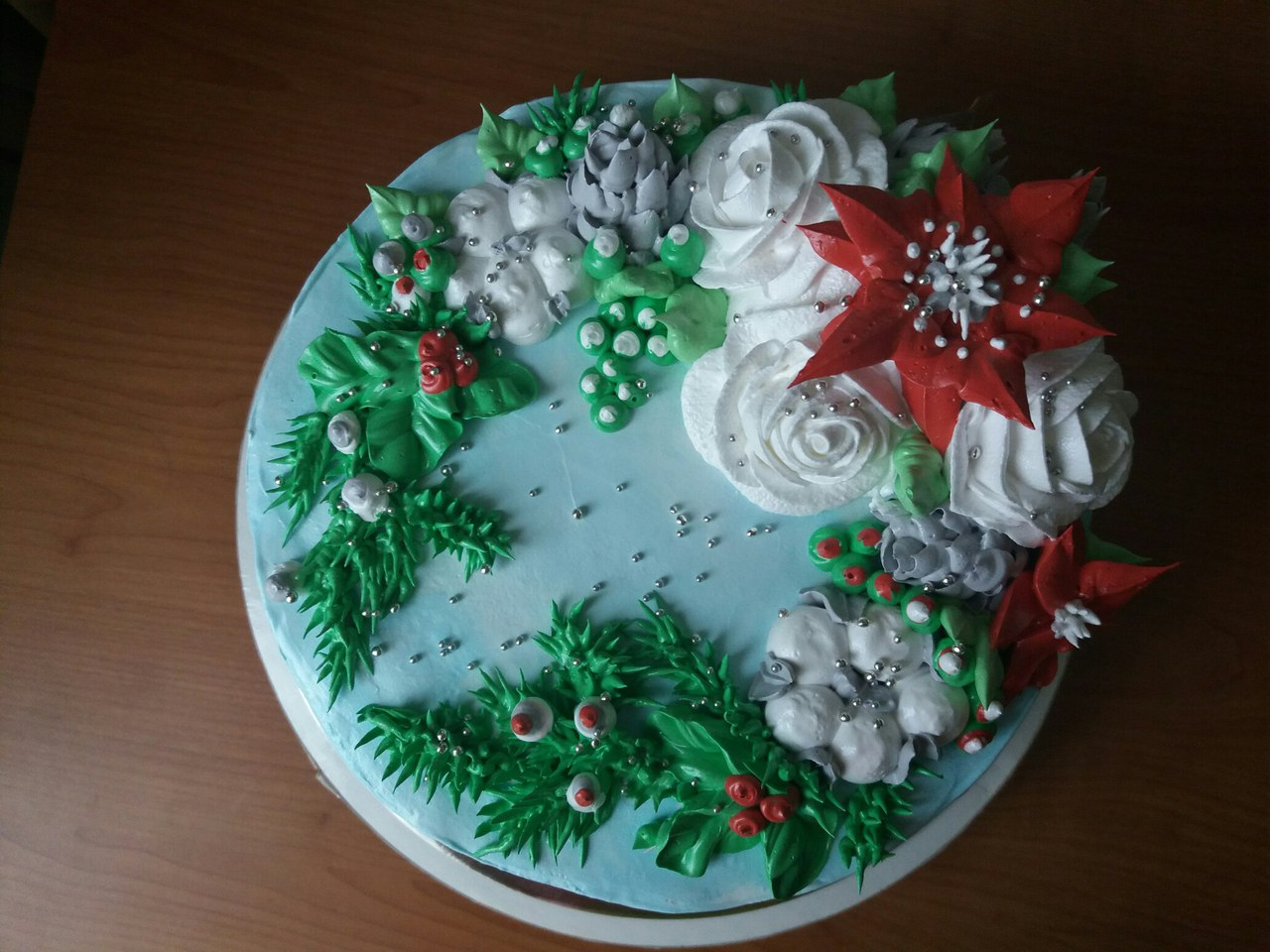 Торт Рождественский венок