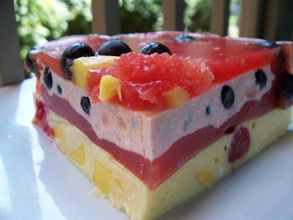 Торт творожный с фруктами рецепт с фото