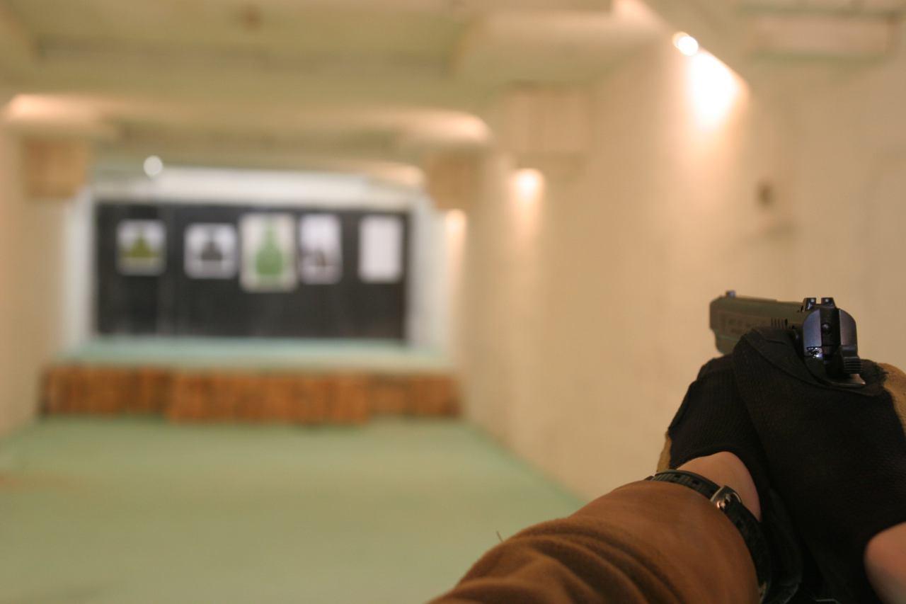 Тир, стрельба, пистолет, кажан