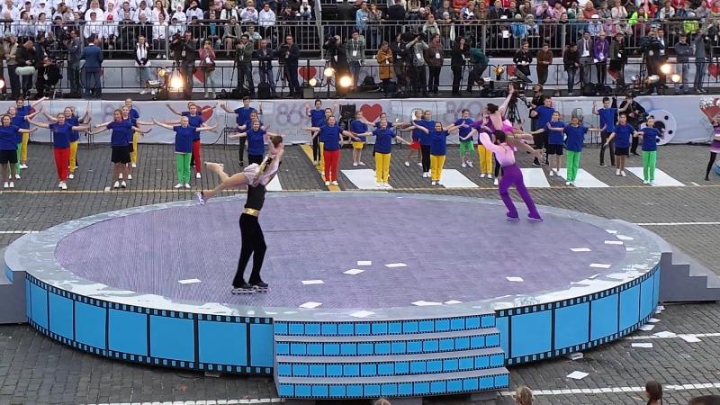 Церемония открытия Дня города. Олимпиада-80