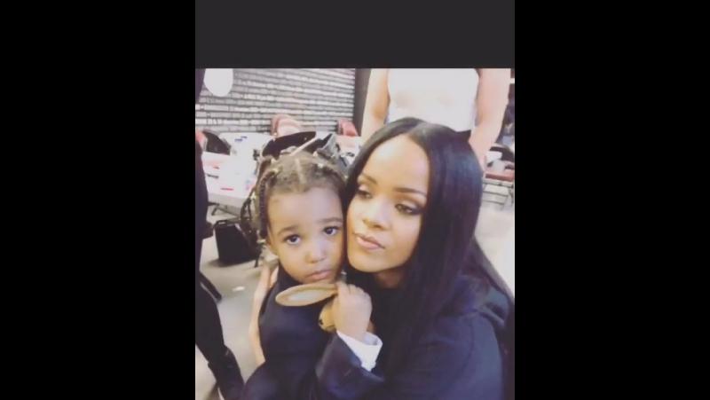 RIRI X AZHANA. ❤️ A month ago already Rihanna showing her the ANTIWORLDTOUR poster. AWT