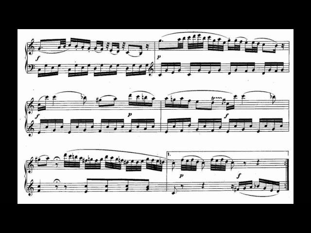 Mozart Piano Sonata No.5 KV.283.mpg 樂譜版本影片