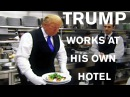 President Trump works as a Waiter at his own Hotel