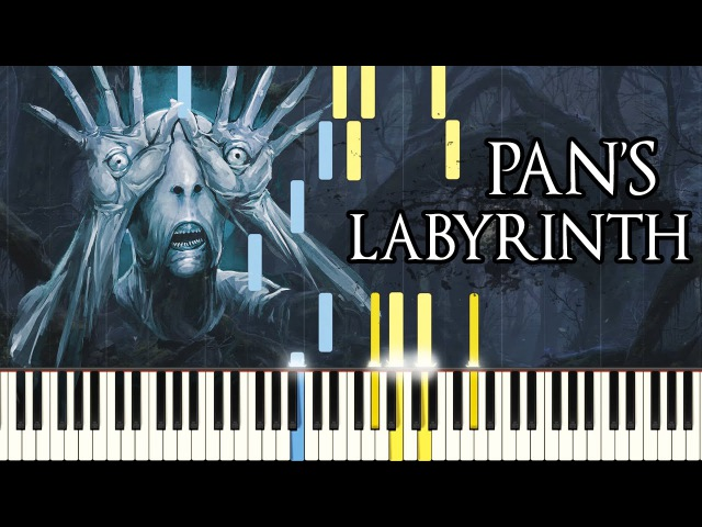 [PIANO TUTORIAL] Pans Labyrinth Lullaby (Synthesia - Easy Piano Learning - Movie Soundtrack)