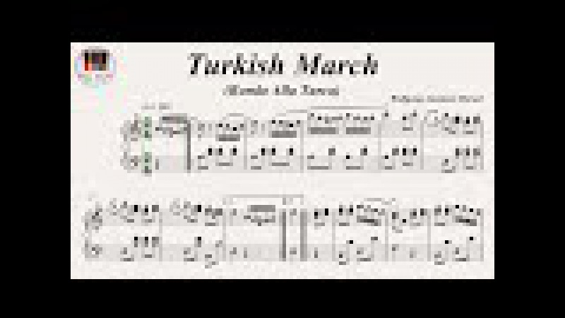 Turkish March (Rondo Alla Turca) Piano Sonata No. 11 K. 331 Movement 3 - Wolfgang Amadeus Mozart