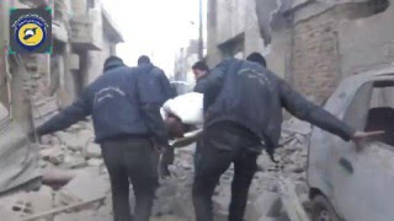 Путин, военные преступления в Сирии. Бойня в Доуме, 10.01.2016 (бомбардировка, госпиталь).