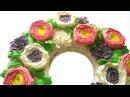 Весенний торт с цветами из масляного крема  Buttercream flowers spring cake tutorial