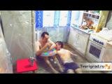 Житель Твери сделал ванну из Роллтона и устроил бассейн у себя на кухне