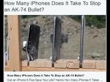 Сколько Айфонов можно прострелить из автомата Калашникова АК-74