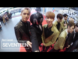 [161202][2016MAMA x M2] SEVENTEEN RedCarpet with MPD