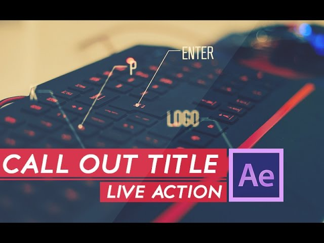 AFTER EFFECTS TUTORIAL :Live Action Call out Title in after effects | Call out text animation