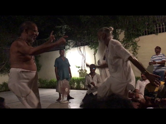 This old Indian sadhu will beat you on a dance floor!