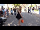 Doutzen Kroes putting on a show and playing with dog on the Croisette in Cannes