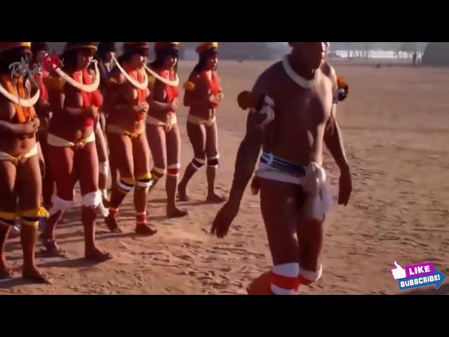 Индейцы Шингу в тропических лесов Амазонки Бразилия
