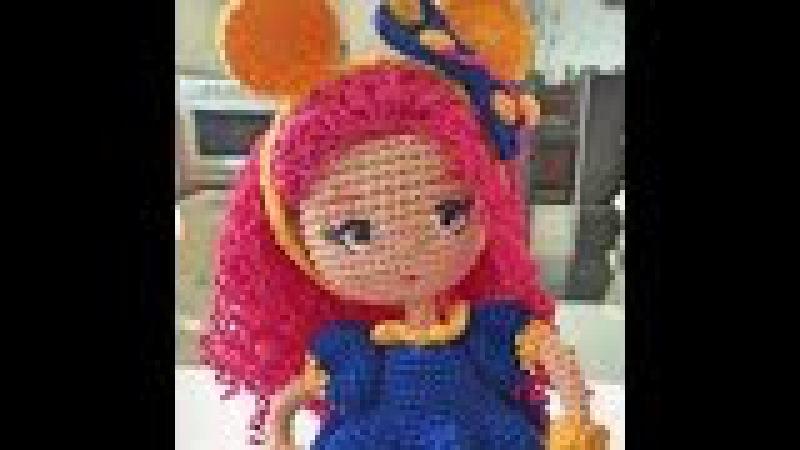 Como bordar ojos muñeca Valentina amigurumi By Petus (6/7) SEXTA PARTE