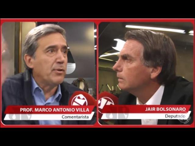 Marco Antonio Villa arrasa Bolsonaro, que se atrapalha e admite recebimento de propina através do PP