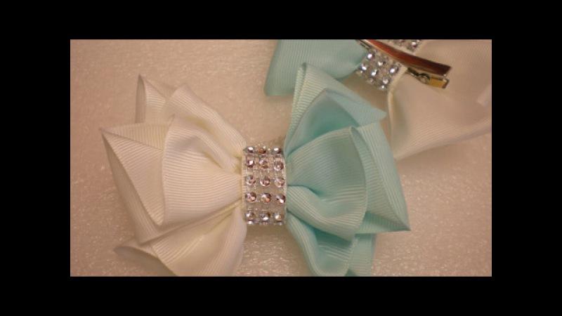 Бантики из Репсовой Ленты. КАНЗАШИ Своими Руками. DIY Cute Hair Bow Kanzashi Ribbon Flower