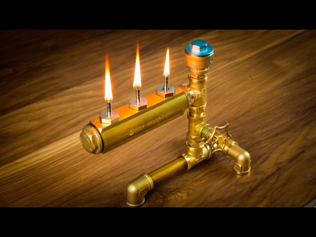 Видео Масляная лампа из промышленных труб