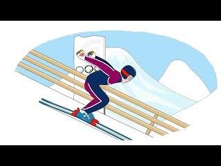 Мультик - Раскраска. Учим Цвета - Зимние виды спорта. Развивающий мультик для дет ...