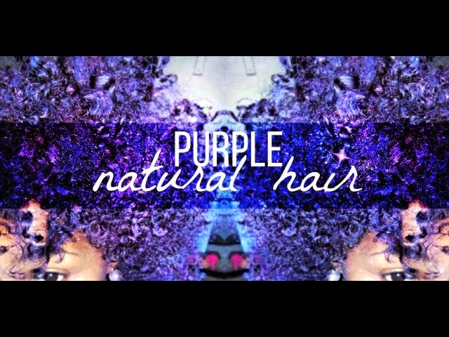 Adore Purple Rage Violet Gem on Natural Hair