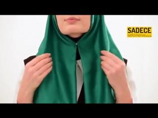 готовый хиджаб на кнопках