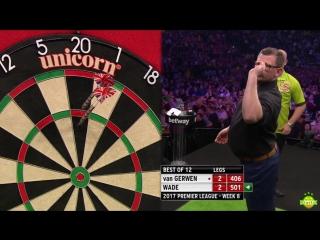 Michael van Gerwen vs James Wade (2017 Premier League Darts / Week 8)