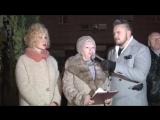 Ольга Спиркина и Дина Григорьева на акции памяти в честь 75-й годовщины Битвы за Москву