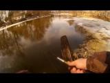 Ловля щуки на джиг. Рыбалка на малой реке в последний день зимы