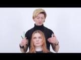 Женская стрижка. Прогрессия на длинные волосы по технике Pivot Point