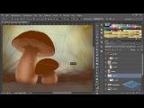 Как нарисовать гриб в Adobe Photoshop. Часть 2