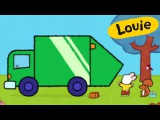 Garbage truck Dustbin lorry - Louie draw me dustbin lorry | Learn to draw, cartoon for children