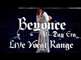 Beyonce: Live Vocal Range - B-Day Era (Bb2-D6)